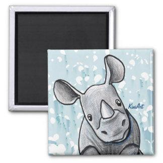KiniArt Rhino Magnet