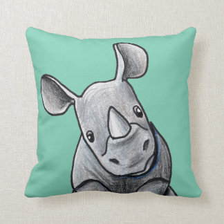KiniArt Rhino Two Tone Pillow