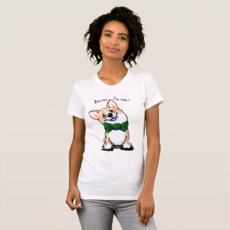 KiniArt Saint Patrick's Day Corgi T-Shirt