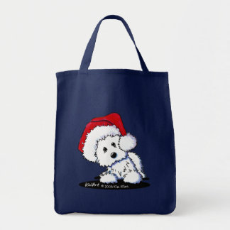 KiniArt Santa Westie Dog Gifts Tote Bag