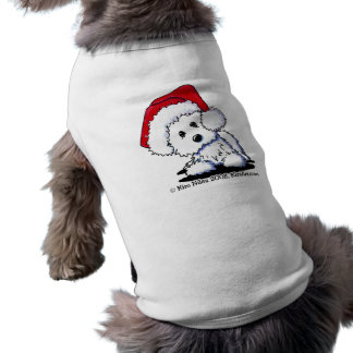 KiniArt Santa Westie Dog Tank Top