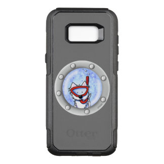KiniArt Snorkel Westie Porthole OtterBox Commuter Samsung Galaxy S8+ Case