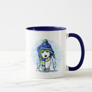 KiniArt Snowy Westie Mug