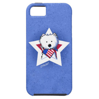 KiniArt Star Speckled Westie iPhone 5 Case