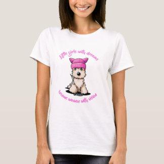 KiniArt Terrier Pink Hat T-Shirt