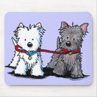 KiniArt Terrier Walking Buddies Mouse Pad