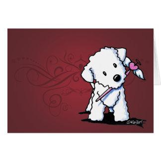 KiniArt Valentine Bichon Frise Card