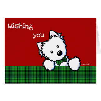 KiniArt Westie Boy Christmas Card
