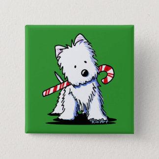 KiniArt Westie Candy Cane Cutie Pin