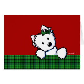 KiniArt Westie Christmas Card