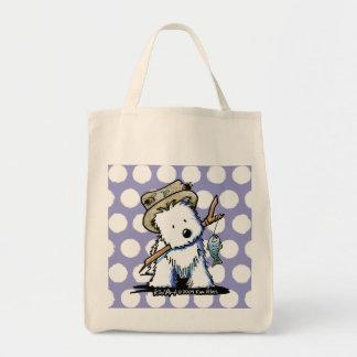 KiniArt Westie Dog Fishing Tote Bag