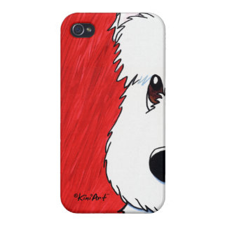 KiniArt Westie Dog On Red Covers For iPhone 4