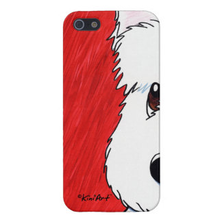 KiniArt Westie Dog On Red iPhone 5 Covers