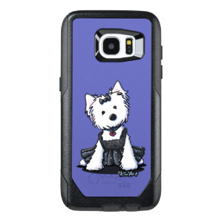 KiniArt Westie Girl Black Dress OtterBox Samsung Galaxy S7 Edge Case