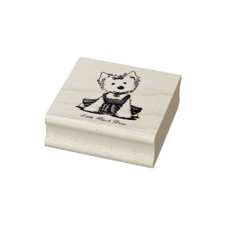 KiniArt Westie LBD Rubber Stamp