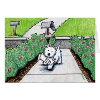 KiniArt Westie Mail Carrier Card