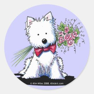 KiniArt Westie Mr. Pawfect Stickers