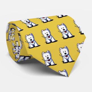 KiniArt Westie Terrier Neck Tie