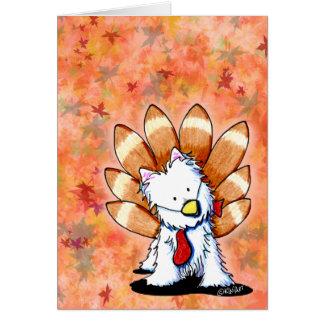 KiniArt Westie Thanksgiving Card