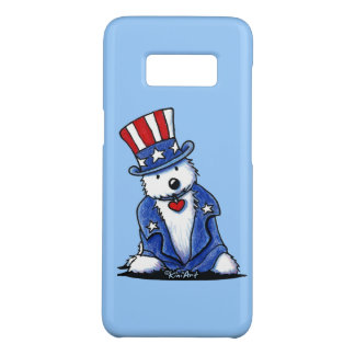 KiniArt Westie Uncle Sam Case-Mate Samsung Galaxy S8 Case