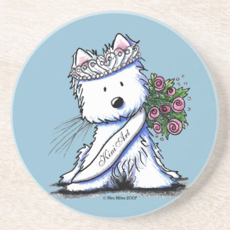KiniArt Willow Westie Terrier Coaster