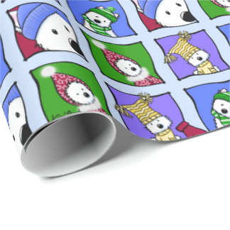 KiniArt Winter Westies Wrapping Paper