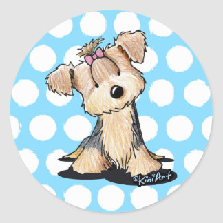 KiniArt Yorkie Darlin' May Round Sticker