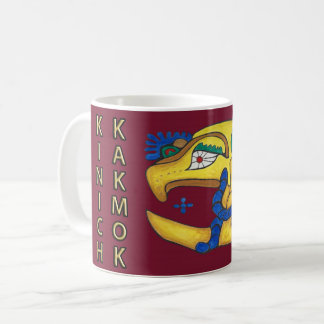 KINICH KAKMOK- MIDNIGHT RED- MAYAN GOLD COAST COFFEE MUG