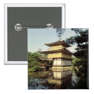 Kinkaku temple dedicated to the memory 2 inch square button
