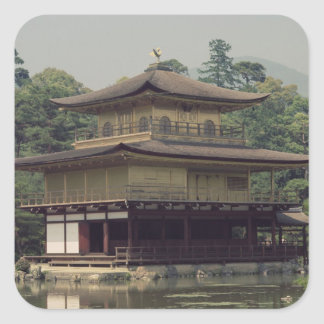 Kinkaku temple  dedicated to the memory square sticker