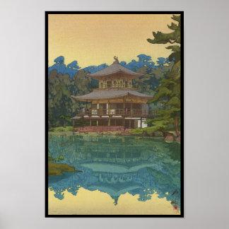 Kinkakuji Temple Yoshida Hiroshi shin hanga art Poster