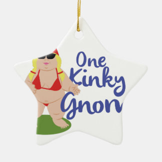 Kinky Gnome Ceramic Star Ornament