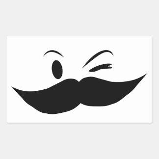 Kinky Mustache Rectangular Sticker
