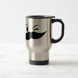 Kinky Mustache Travel Mug