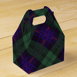 Kinmount clan Plaid Scottish kilt tartan Favor Box