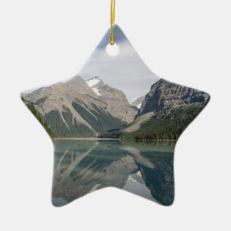 Kinney Lake and Mount Whitehorn near Mount Robson Ceramic Ornament