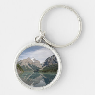 Kinney Lake and Mount Whitehorn near Mount Robson Silver-Colored Round Keychain