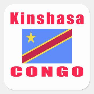 Kinshasa Congo capital designs Square Sticker