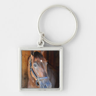 Kinsley's Kisses Silver-Colored Square Keychain