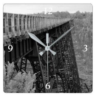 Kinzua Skywalk Square Wall Clock
