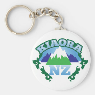 KIORA Kiwi New Zealand hello Basic Round Button Keychain
