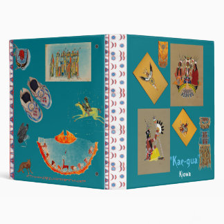 """Kiowa traditional Design"" Vinyl Binder"