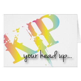Kip Your Head Up get well acrd Card