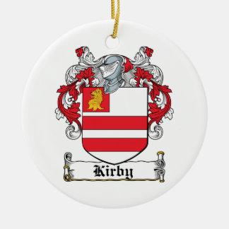 Kirby Family Crest Ceramic Ornament
