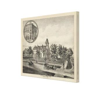 Kirby residence and Bank, Abilene, Kansas Canvas Print