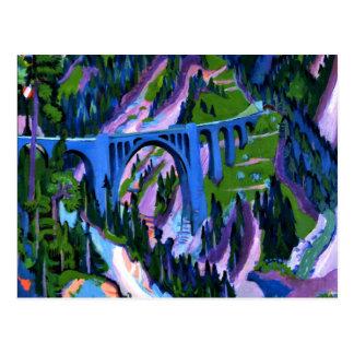 Kirchner - Bridge at Wiesen Postcard