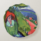 Kirchner - Erna by the Sea Round Pillow