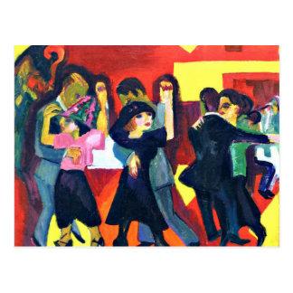 Kirchner - Tango Tea; Ernst Kirchner painting Postcard