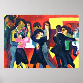 Kirchner - Tango Tea; Ernst Kirchner painting Poster