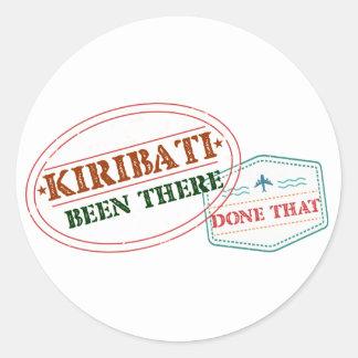 Kiribati Been There Done That Round Sticker